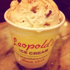 Ice cream at Leopold's! The best!