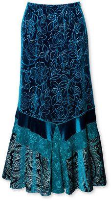 Farb-und Stilberatung mit www.farben-reich.com - ShopStyle: Velvet-embossed knit skirt