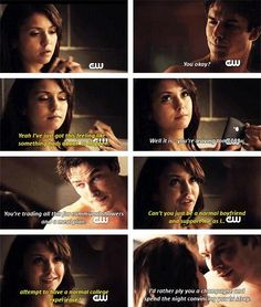 Delena 5x01 - Season 5 - The Vampire Diaries. ♥ Sometimes I think elena must have a heart of stone to resist.