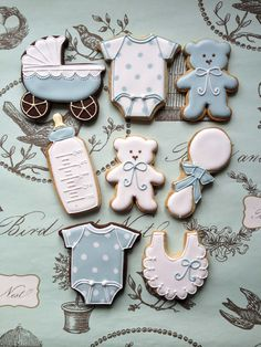 Baby shower / New baby iced biscuits