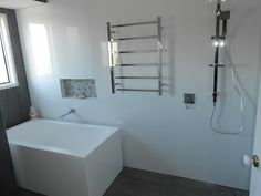 New Bathroom Located at 8 Mile Plains where we undertook the complete transformation in just over 10 days Beautiful Bathrooms, Bathroom Renovations, Brisbane, 8 Mile, Bathtub, 10 Days, Gallery, Bliss, Standing Bath