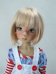 Monique AVA Golden Blonde Wig Size 7-8 MSD BJD shown on Layla by Kaye Wiggs