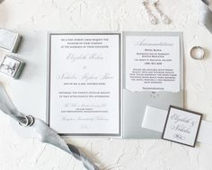 These Silver Elegant invitations - perfect for your black tie wedding! Photo shows raised print and rhinestone crystal embellishments. Silver Wedding Invitations, Elegant Wedding Invitations, Wedding Planning Tips, Wedding Tips, Look Dark, Invitation Envelopes, Gala Invitation, Black Tie Wedding, Wedding Announcements