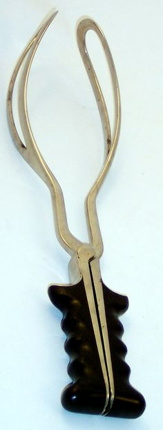 American made birthing forceps that date to 1850. My son is 30y/o & he was delivered with forceps, not that far ago.