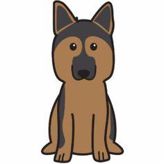 German Shepherd Dog Cartoon Photo Cut Outs