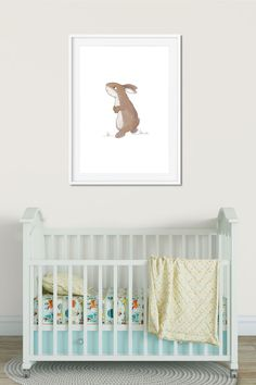 Add a cute bunny illustration to your child's nursery. Click to buy and see more prints from Cheeky Chops Art on Etsy. Cute Illustration, Watercolor Illustration, Websites Like Etsy, Bunny Nursery, Rabbit Baby, Woodland Nursery Decor, Bunny Art, Girls Bedroom, Bedroom Ideas