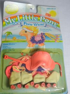 My Little Pony Baby PONY WEAR Great Skates IN PACKAGE! 1984 Hasbro Vintage MIP