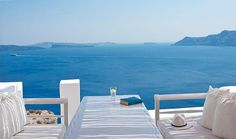 Katikies Hotel, Greece - On Santorini (with its signature white-and-blue color scheme), the Katikies Hotel lends further credence to the idea that not only is putting a pool on an island surrounded by water not redundant, but you can do so just about anywhere in Greece and still achieve a killer view.