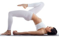 Bridge Variation is a great pose for weight loss