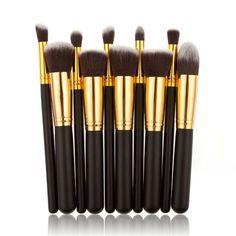 10 pcs Cosmetic Brush Set Makeup Brush https://www.stylishntrendier.com/
