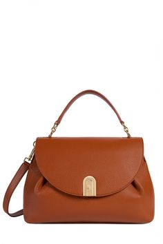 Furla Damen Henkeltasche Sleek M Cognac | SAILERstyle Trends, Furla, Designer, Bags, Fashion, Fashion Styles, Ladies Bags, Handbags, Moda