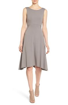 Eileen Fisher Jersey Bateau Neck Fit & Flare Dress (Regular & Petite) (Online Only) available at #Nordstrom