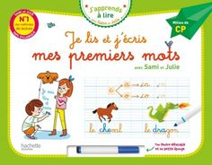 Je lis et j'écris mes premiers mots - Milieu de CP (Livre-ardoise) French Learning Books, Julie, Learn French, Cursive, Baby, Words, Writing Notebook, Learn To Speak French, Baby Humor