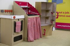 Did you know how many amazing things can be made from cardboard? We built a cardboard kitchen recently to as part of our recycling adventures.