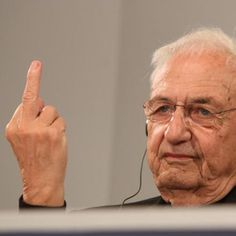 """Frank-Gehry-architecture-Dezeen-----This week Frank Gehry responded to criticism of his architecture by wielding his middle finger to gathered journalists (pictured), and we reported on the Chinese president's call for an end to """"weird architecture"""" in China. Read on for more architecture and design highlights, plus our track of the week. More »"""