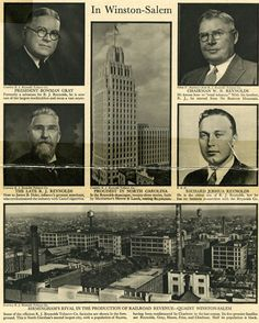 RJR, Winston Salem, NC - This write and ad appeared in the Jan 1931 issue of Fortune Magazine. Piedmont Airlines, Forsyth County, Wake Forest University, Fortune Magazine, Winston Salem, Old Building, Time Travel, North Carolina, Coastal
