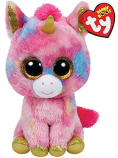Our Fantasia Unicorn is a pink Ty Beanie Boos plush toys. It will make an ideal small gift for all occasion or a perfect addition to your own Ty Beanie Boo collection. Order Fantasia online or by telephone for fast UK delivery. Beanie Babies, Beanie Hats, Ty Beanie Boos Collection, Ty Peluche, Beanie Boo Birthdays, Ty Toys, Unicorn And Glitter, Gold Glitter, Cute Beanies
