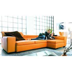 Orange Couch, Overstock.com