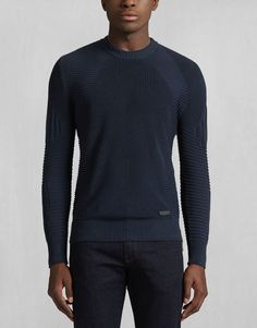 Kallen Crewneck Sweater - Navy Cotton