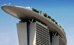 the marina bay sands building by moshe safdie architects Marina Bay Sands, Sands Singapore, Wall And Floor Tiles, Civil Engineering, Sustainable Living, Architecture Art, Rooftop, Sustainability, Graffiti