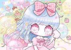 Kawaii picture by ShimaMinami Cute Anime Chibi, Kawaii Chibi, Kawaii Anime Girl, Anime Art Girl, Anime Girls, Art Kawaii, Chibi Characters, Kawaii Wallpaper, Anime Life