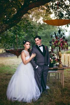 A darkly romantic and mysterious old world circus styled shoot   Custom by Nicole Photography: www.custombynicole.com