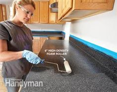 Renew Laminate Countertops with Rust-Oleum's new Countertop Transformations coating system