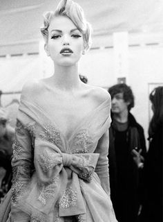 Daphne Groeneveld backstage at Christian Dior Haute Couture Fall/Winter 2010 photographed by Mary Rozzi
