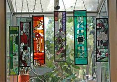 unique leaded glass sun-catchers for the porch or deck