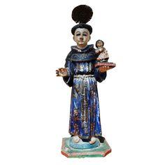 1stdibs - Mexican Santo Spanish Colonial San Antonio de Padua explore items from 1,700  global dealers at 1stdibs.com  Mom's Patron Saint