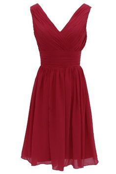 Dressystar Short Bridesmaid Dress Chiffon Party Evening Dress Burgundy Size 14W Dressystar http://www.amazon.com/dp/B00GASG9Y2/ref=cm_sw_r_pi_dp_nEjNub1Z37ZMZ