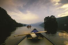 Canoeing in Loch Tay.