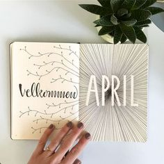 Bullet journal monthly cover page, April cover page, lineart. Bullet Journal Vidéo, Bullet Journal Aesthetic, Bullet Journal Ideas Pages, Bullet Journal Layout, Bullet Journal Inspiration, Journal Pages, Journal Themes, Journal Covers, Cover Pages