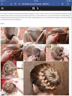 Ponytail braided bun