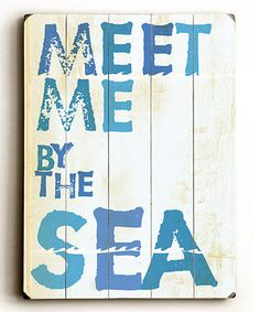 Take a look at this 'Meet Me by the Sea' Wall Art by ArteHouse on #zulily today!