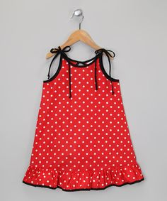 Look at this Red & White Polka Dot Ruffle Dress - Infant, Toddler & Girls on #zulily today!