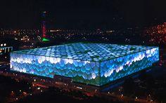 jennifer wen ma + zhen jianwei illuminate beijing water cube