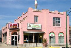 Iconic Rainbow Cone ice cream in the hard-to-miss pink building on Chicago's Southside!