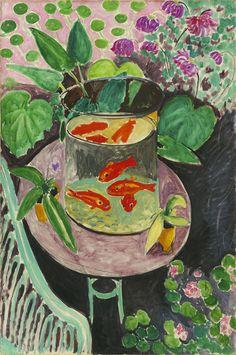 Henri Matisse - 132 Poissons rouges - Красные рыбы - 1912 - 140x98 - Acheté à l'atelier, juillet 1912, 6000f - cat. 1913, 115 - inv. Pouchkine J 3299