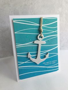 I'm in Haven: Anchors Away! cards for men cardmaking Nautical Cards, Nautical Theme, Sailing Tattoo, Ship Drawing, Beach Cards, Nautical Stripes, Get Well Cards, Diy Cards, Handmade Cards