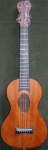 Early Musical Instruments, antique Romantic Guitar by Etienne Laprevotte 1831-34