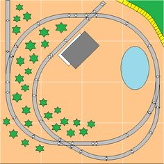 Mike's Small Trackplans Page N Scale Train Layout, Ho Train Layouts, N Scale Layouts, Garden Train, N Scale Model Trains, Model Railway Track Plans, Ho Trains, Ho Scale, Bridges