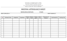 Attendance Spreadsheet Template Pleasing Attendance Sheet 39  Attendance Sheet For Strategic Meeting .