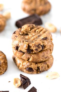 No-Bake Energy Cookies that are done in less than one minute and only take 4 ingredients! They taste just like cookie dough, but they are super healthy!!