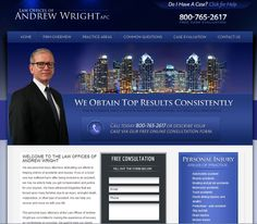 After success with his last site, attorney Andrew Wright sought our help again for a new site for his new law firm.