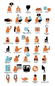 Icons for Studio 13/16 Centre Pompidou, France. Jean Jullien.
