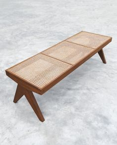 PH33 – Teak and Cane Bench Pierre Jeanneret