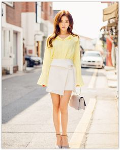 chuu - Belted Mini Wrap #Skirt #cute #petite