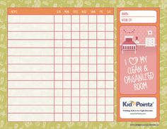 Chore charts for children its a great tool for positive rewards they come age and gender apropriate. Too cool