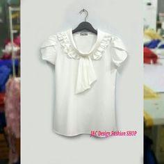 """เสื้อผ้าฝ้าย   เสื้อชีฟองแต่งเกล็ดระบายด้านหน้า เสื้อทำงานเกาหลี เสื้อสมัครงาน ชุดสมัครงาน เสื้อใส่กับผ้าถุง เสื้อใส่กับผ้าซิ่น  PRODUCT ID: TOP 421   Piece : 270  B.    ลายผ้า:COTTON 100%  สี:ตามภาพ    เสื้อทำงาน เสื้อผ้าไทยใส่กับผ้าซิ่น เสื้อแฟร์ชั่น เสื้อสไตน์เกาหลี พร้อมส่ง  #TOP BRAND Ultra High Quality  SIZE: FREE SIZE ขนาดตัวเสื้อ อก 34-36"""" ยาว 24""""  FABBRIC :COTTON 100%  Geometrie Style แต่งเกล็ดระบายเนี้ยบข้างหน้า กระดุมหน้าจริง มีแขนเรียบร้อย เสื้อทำงานน่ารักสไตน์เกาหลี…"""